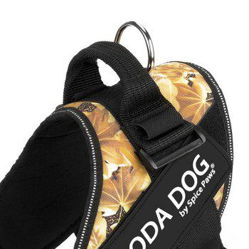 Nylon Cloth MODA DOG Harness Vest Luminated PatchPet Chest Straps - YELLOW YELLOW