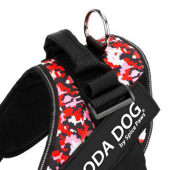 Nylon Cloth MODA DOG Harness Vest Luminated PatchPet Chest Straps - RED GEOMETRIC PATTERN RED GEOMETRIC PATTERN