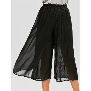Chiffon Pleated Wide Leg Pants