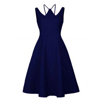 Vintage Strappy Skater Party Dress