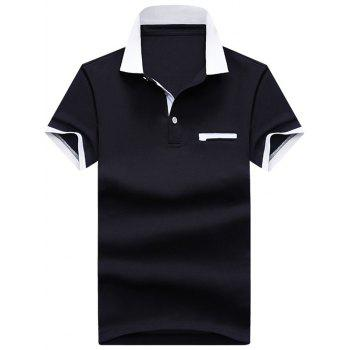 Two Tone Faux Pocket Polos