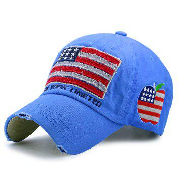 Letters Embroidered American Flag Patchwork Baseball Hat
