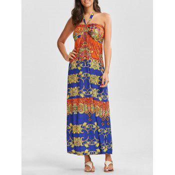 Halter Tribal Print Maxi Dress