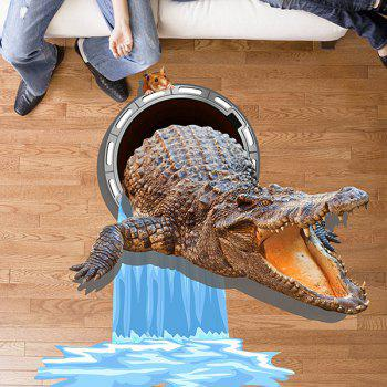 3D Crocodile Mouse Water Wall Sticker
