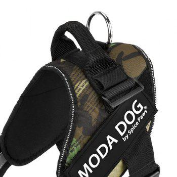 Nylon Cloth MODA DOG Harness Vest Luminated PatchPet Chest Straps - GREEN GREEN
