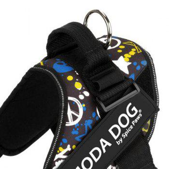 Tissu en nylon MODA DOG Harness Vest Luminated PatchPet Chest Straps - multicolorcolore S