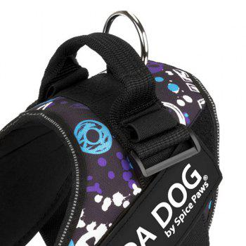 Nylon Cloth MODA DOG Harness Vest Luminated PatchPet Chest Straps - GREY/WHITE/BLUE GREY/WHITE/BLUE