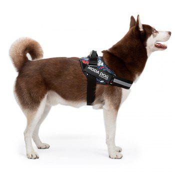Nylon Cloth MODA DOG Harness Vest Luminated PatchPet Chest Straps - BLUE BLUE