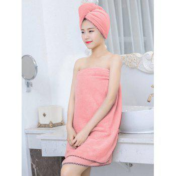 Pineapple Grid Coral Fleece Soft 3PCS Bath Towel Set