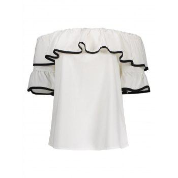 Bell Sleeves Off The Shoulder Top - WHITE WHITE