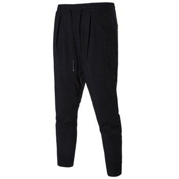 Drop Crotch Drawstring Sports Pants