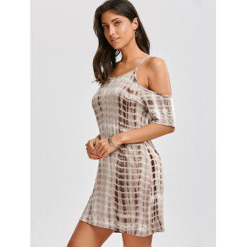 Tie Dye Spaghetti Strap Dress - Carnation S