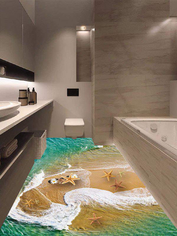 Beach Seafish Floor Sticker - MARINE GREEN 50*70CM