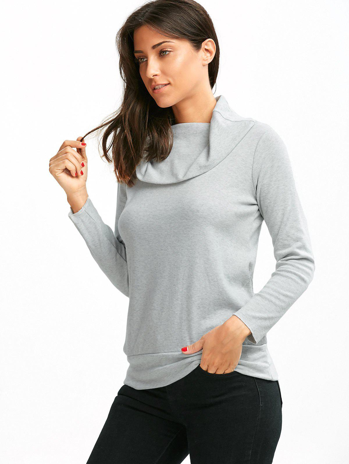 Multiway Off The Shoulder T-Shirt - GRAY L