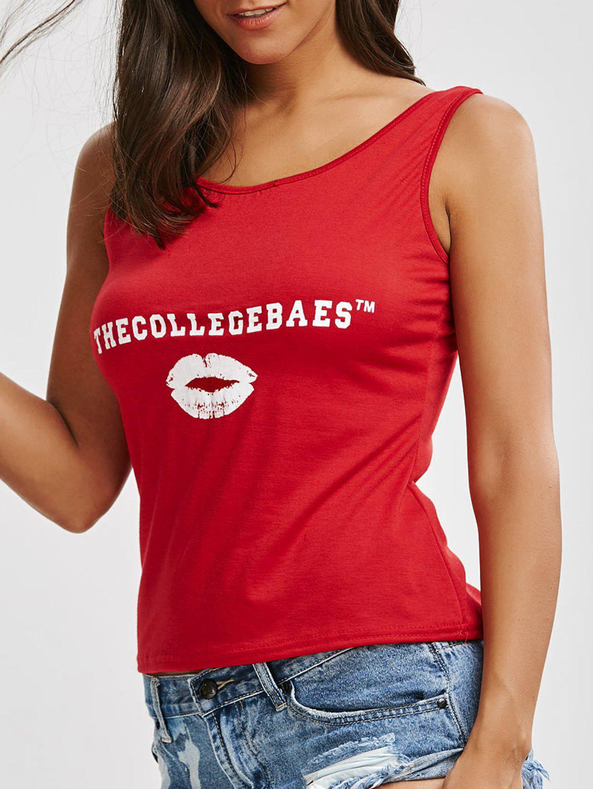THE COLL EGEBSES Graphic Tank Top