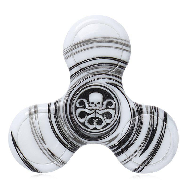 Focus Toy Plastic Patterned Fidget Spinner - BLACK