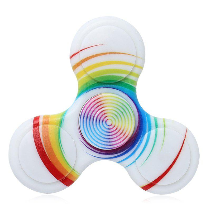 Focus Toy Plastic Patterned Fidget Spinner - Blanc