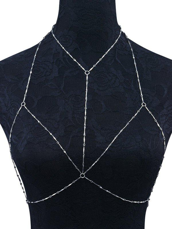 Geometric Circles Bra Body Chain - SILVER