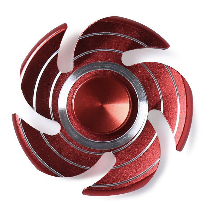 Fiddle Toy Whirlwind Fidget Metal Spinner - Rouge