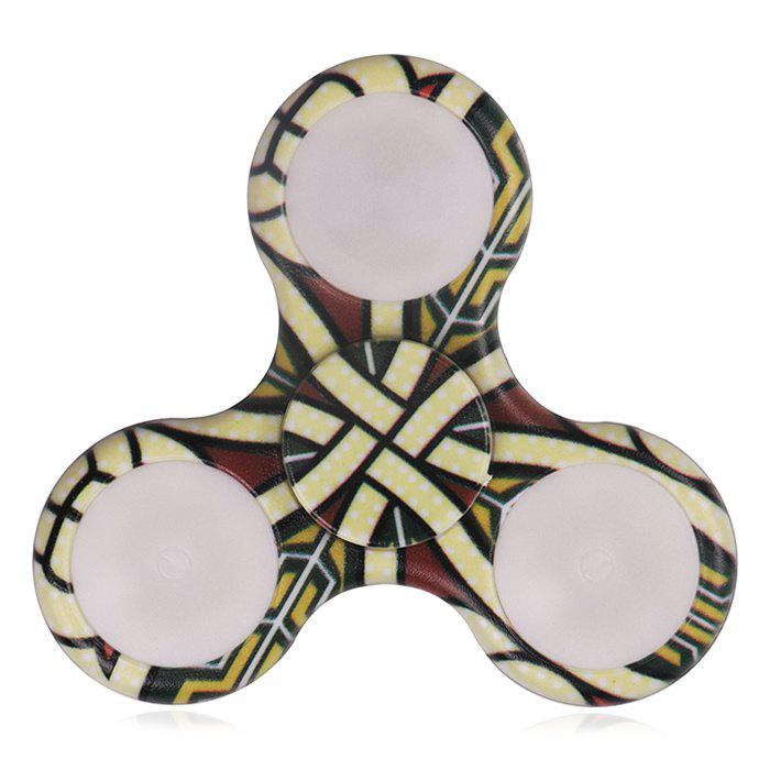 Mandala Patterned Finger Spinner avec LED Lights - Jaune