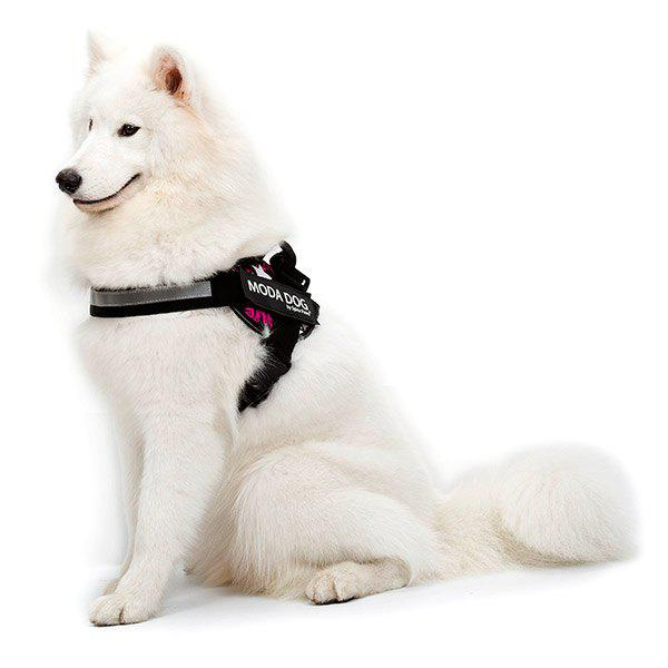 Tissu en nylon MODA DOG Harness Vest Luminated PatchPet Chest Straps - Frutti de Tutti M