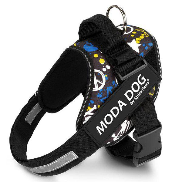 Tissu en nylon MODA DOG Harness Vest Luminated PatchPet Chest Straps - multicolore XS
