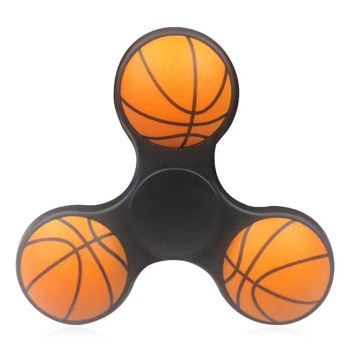 Fiddle Toy Plastic Basketball Fidget Spinner - BLACK