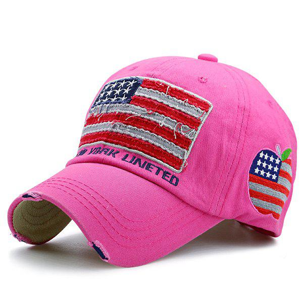 Letters Embroidered American Flag Patchwork Baseball Hat letters behind gesture embroidered baseball hat
