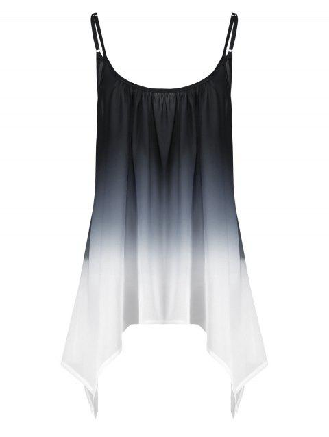 29fd97ee553 LIMITED OFFER  2019 Plus Size Ombre Handkerchief Chiffon Cami Top In ...