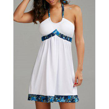 Halter Backless Mini Beach Dress