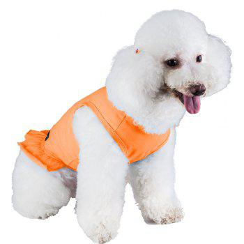 Spice Paws Cotton Pet Puppy Vest Dress - ORANGE S