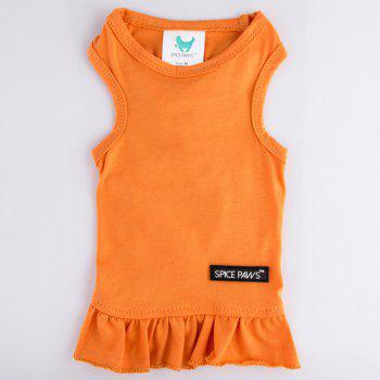 Spice Paws Cotton Pet Puppy Vest Dress - M M