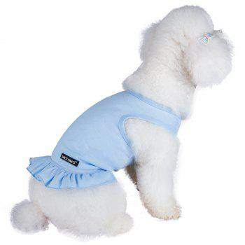 Spice Paws Cotton Pet Puppy Vest Robe - Bleu clair XL