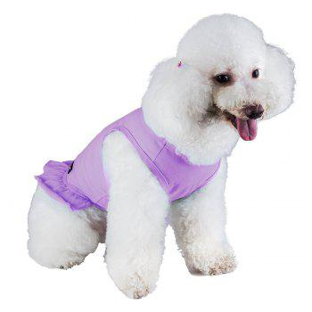 Spice Paws Cotton Pet Puppy Vest Dress - SUEDE ROSE L