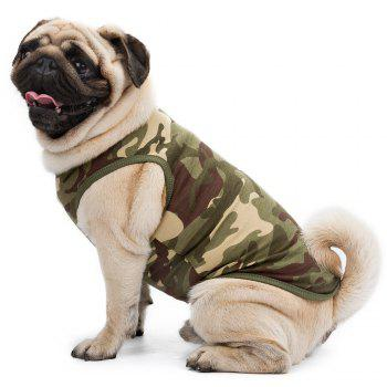 High Grade Cotton Pet Clothes Puppy Camouflage Vest - GREEN XS