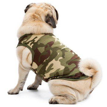 High Grade Cotton Pet Clothes Puppy Camouflage Vest - GREEN S