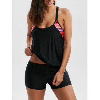 Cami Cut Out Ensemble Blouson Boyleg Tankini