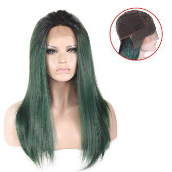 Colormix Long Free Part Silky Straight Lace Front Synthetic Wig