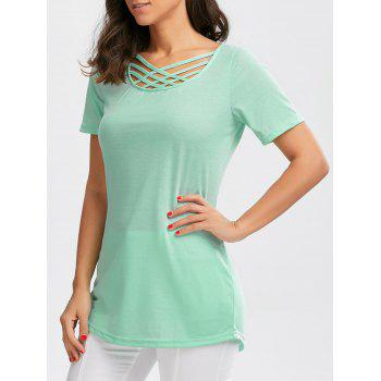 Crisscross Longline Short Sleeve T-Shirt