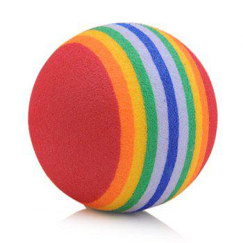Pet Cat Dog Bouncy Pellet Toy EVA Floating Water Rainbow Ball - COLORFUL COLORFUL