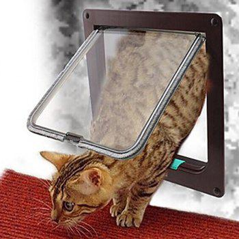 Pet Supplies Window Plastic Hole Dog Cat Door - BROWN BROWN