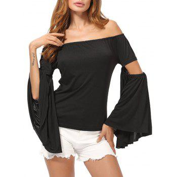 Off The Shoulder Flared Sleeve Top