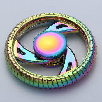 Wheel Shaped EDC Zinc Alloy Fidget Hand Spinner - COLORFUL 6*6*1.2CM