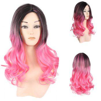 Long Center Parting Wavy Colormix Ombre Lolita Synthetic Wig