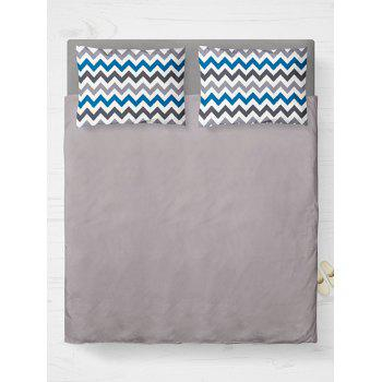 Brushed Fabric Zigzag Bedroom Double Pillow Case