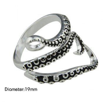 Octopus Tentacles Alloy Ring - SILVER ONE-SIZE