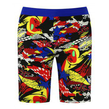 Muti-color Printed Breathable Swimming Trunks