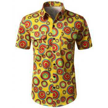 Circle Printed Double Pocket Shirt