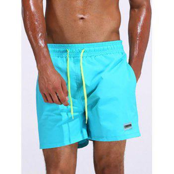Loose Fitting Color Drawstring Board Shorts