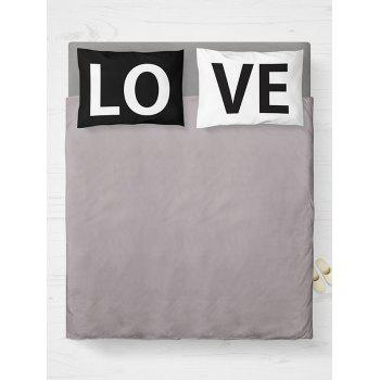 Letter Love 2Pcs Pillowcase Cover For Bedroom